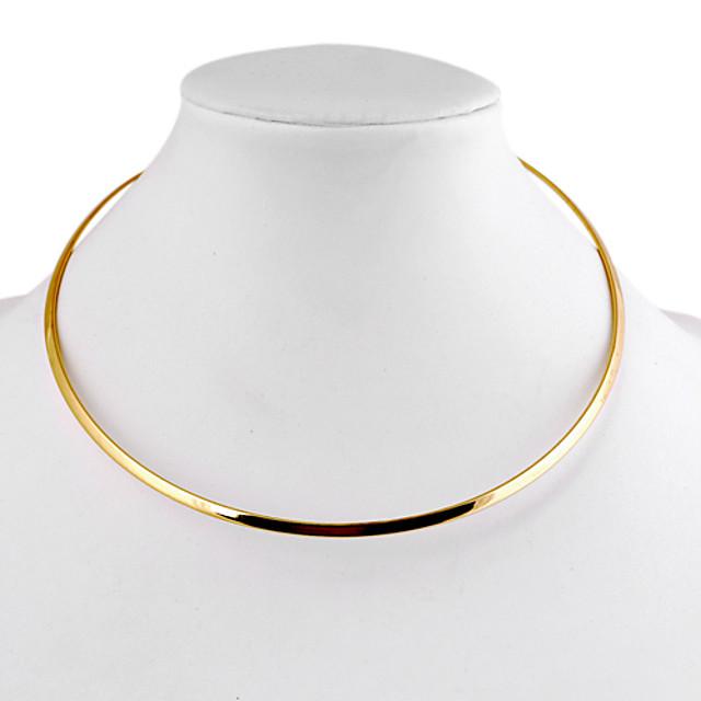 Pentru femei Coliere Choker femei Simplu stil minimalist Aliaj Auriu Argintiu Coliere Bijuterii 1 buc Pentru Zilnic Casual