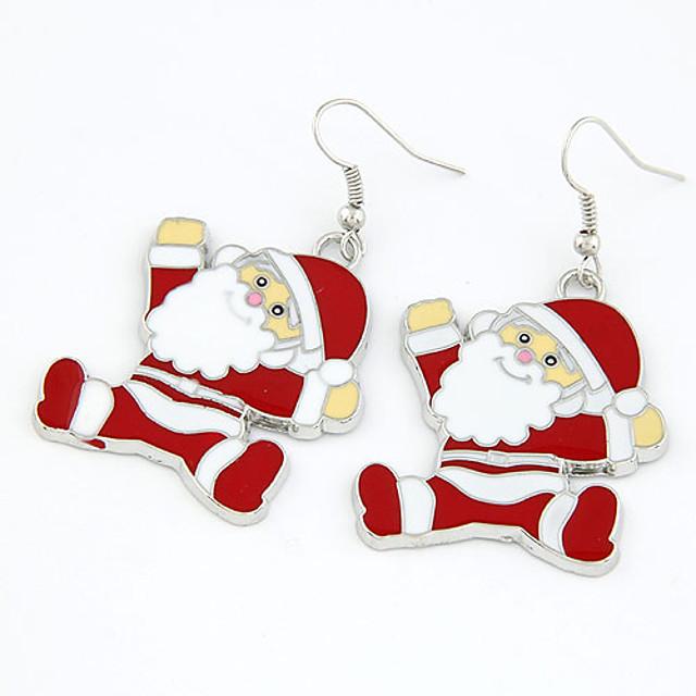 Damen Tropfen-Ohrringe nette Art Weihnachten Ohrringe Schmuck Rot Für Weihnachten Alltag