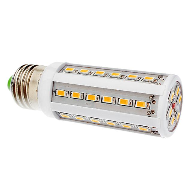 1 buc 8 W Becuri LED Corn 650-750 lm E26 / E27 36 LED-uri de margele SMD 5630 Alb Cald 220-240 V