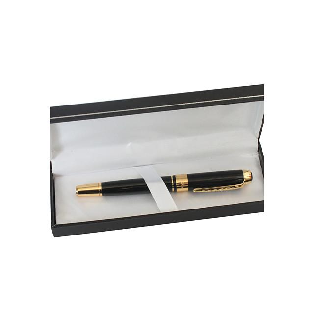 Personalizat negru și auriu Black Metal cerneală stilou gel