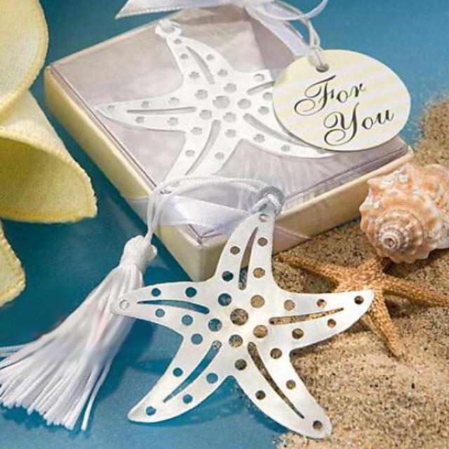Din oțel inoxidabil Tassel Starfish Bookmark