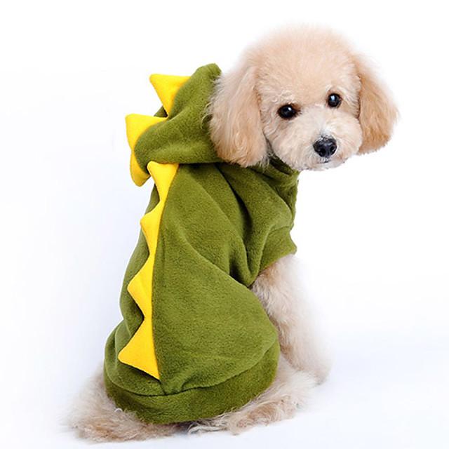 Cachorro Fantasias Camisola com Capuz Roupas para Cães Desenho Animado Vermelho Verde Algodão Ocasiões Especiais Para Primavera & Outono Inverno Homens Mulheres Fantasias