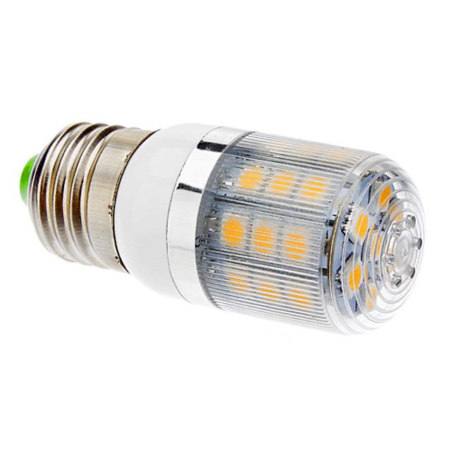 Becuri LED Corn 360-400 lm T 31 LED-uri de margele SMD 5050 Alb Cald 220-240 V