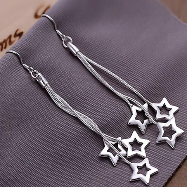 Pentru femei Cercei Picătură Αστέρι femei cercei Bijuterii Argintiu Pentru 1 buc