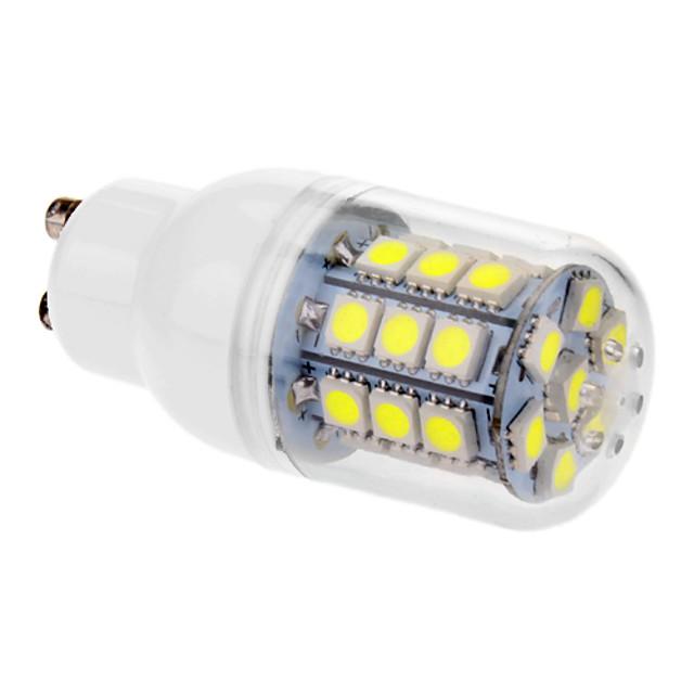 Becuri LED Corn 530 lm GU10 T 31 LED-uri de margele SMD 5050 Alb Rece 220-240 V
