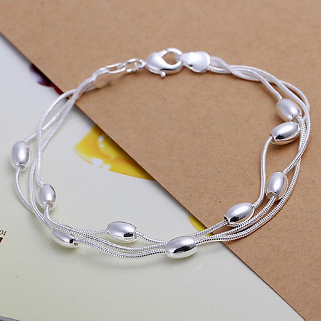 Pentru femei Brățări cu Lanț & Legături Articole de ceramică Bijuterii brățară Argintiu Pentru Cadouri de Crăciun Petrecere Nuntă Casual Zilnic Sport / Argilă