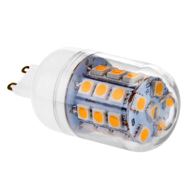 Becuri LED Corn 450 lm G9 30 LED-uri de margele SMD 5050 Alb Cald 220-240 V