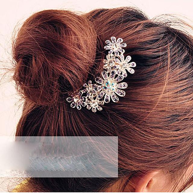 Pentru femei Piepteni de Păr Pentru Zilnic Sport Flori Cristal Aliaj