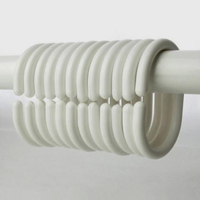 1pc Crochets pour Rideaux de Douche Plastique Salle de  Bain