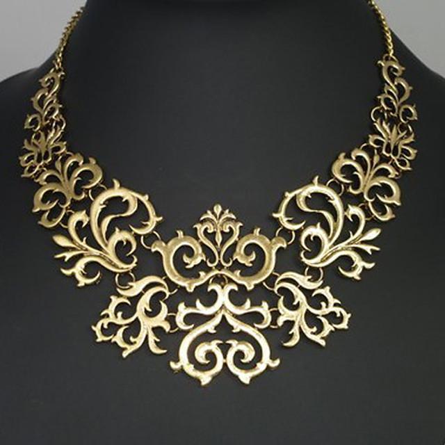 Dámské Prohlášení Náhrdelníky Kytky dámy Vintage Evropský Slitina Zlatá Stříbrná Náhrdelníky Šperky Pro Párty Výročí Narozeniny Gratulace Děkuji Dar