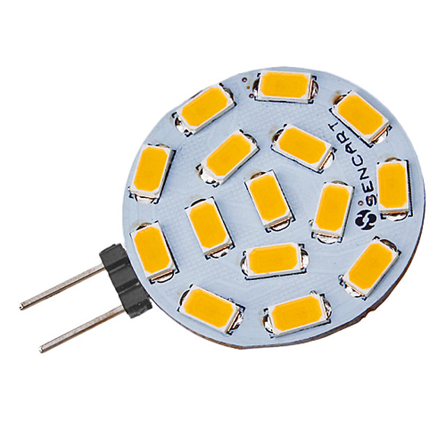 1 buc 5 W Spoturi LED 310-320 lm G4 15 LED-uri de margele SMD 5730 Alb Cald 12 V