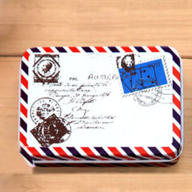 Dreptunghi Plic model Tin Box