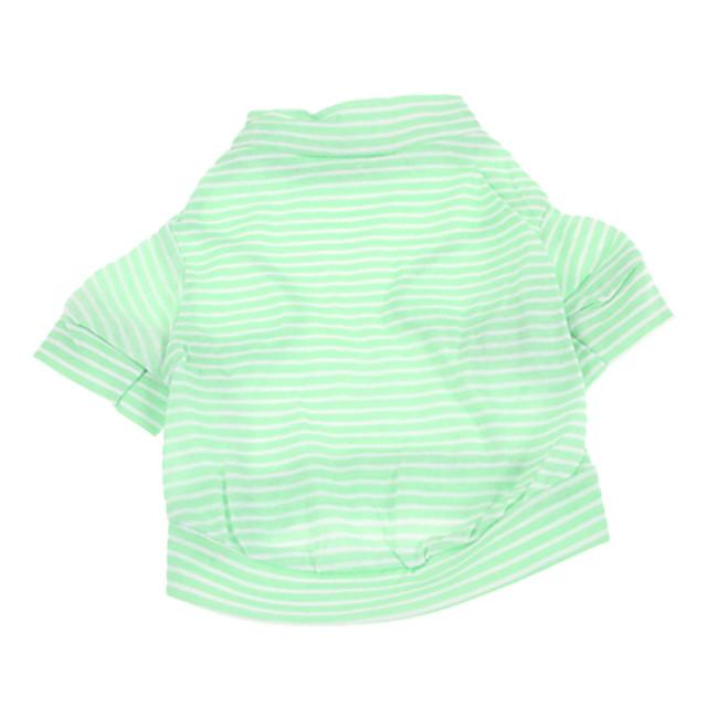 Câine Tricou Îmbrăcăminte Câini Respirabil Verde Costume Bumbac Dungi XS S M L