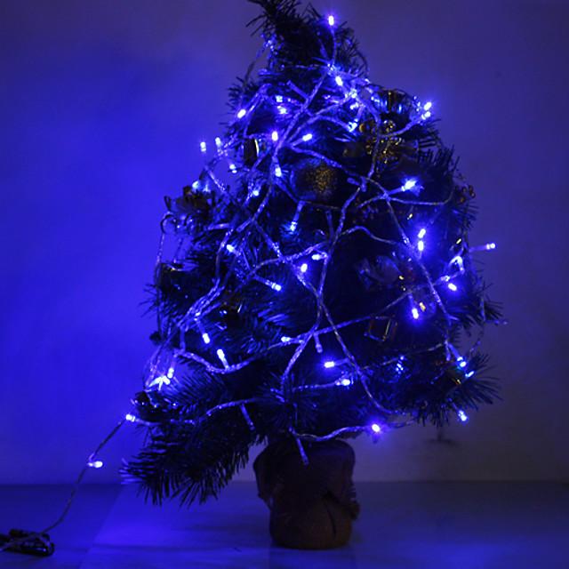 10m Fâșii de Iluminat 100 LED-uri Dip Led / EL Albastru Petrecere / Nuntă / Crăciun decor de nunta 220-240 V 1set / IP44