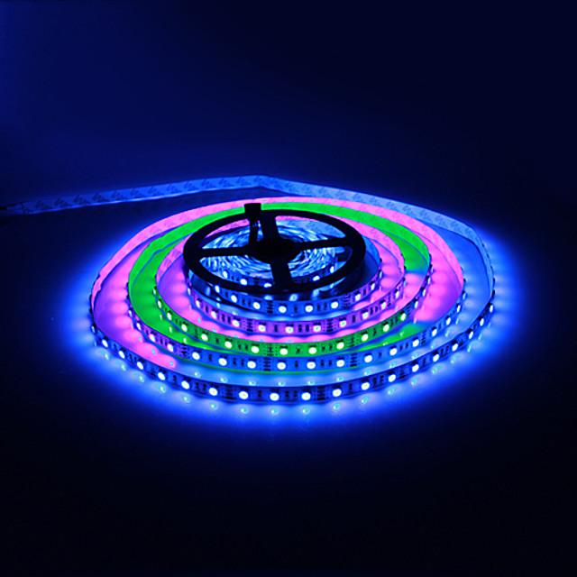 5 m Fleksible LED-lysstriber / Lyssæt / RGB-Lysstriber 60 lysdioder 5050 SMD RGB 12 V 1pc