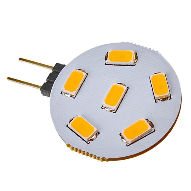 SENCART 1 buc 2.5 W Spoturi LED 120-150 lm G4 6 LED-uri de margele SMD 5730 Alb Cald 12 V