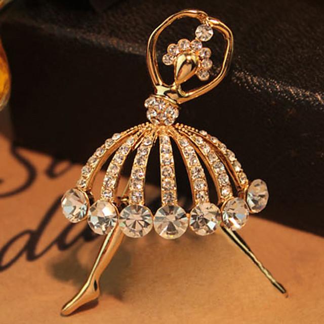 Pentru femei Modă Cristal Broșă Bijuterii Auriu Pentru Nuntă Petrecere Zilnic