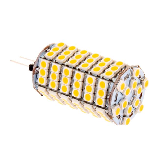 Becuri LED Corn 580 lm G4 T 118 LED-uri de margele SMD 5050 Alb Cald 12 V / #