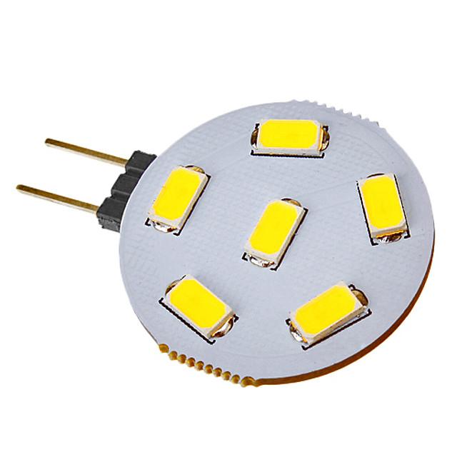 SENCART 1 buc 2.5 W Spoturi LED 120-150 lm G4 6 LED-uri de margele SMD 5730 Alb Rece 12 V