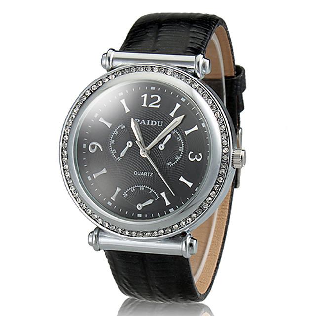 Bărbați Ceas Elegant Aviation Watch Quartz Negru / Alb Rezistent la Apă Analog Clasic - Auriu / Alb Argintiu / negru Alb-Argintiu