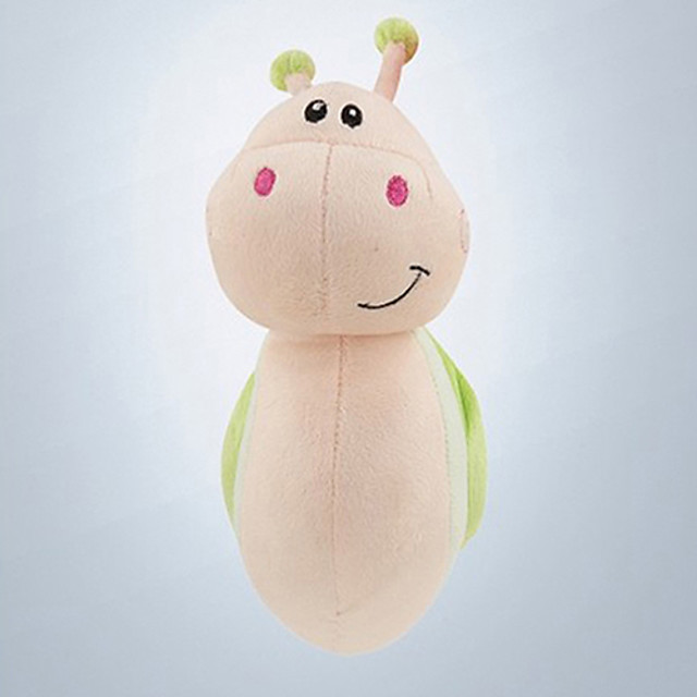 Mini Endearing Snail-shaped Light Green Plush Car Decorative Doll with Cupula