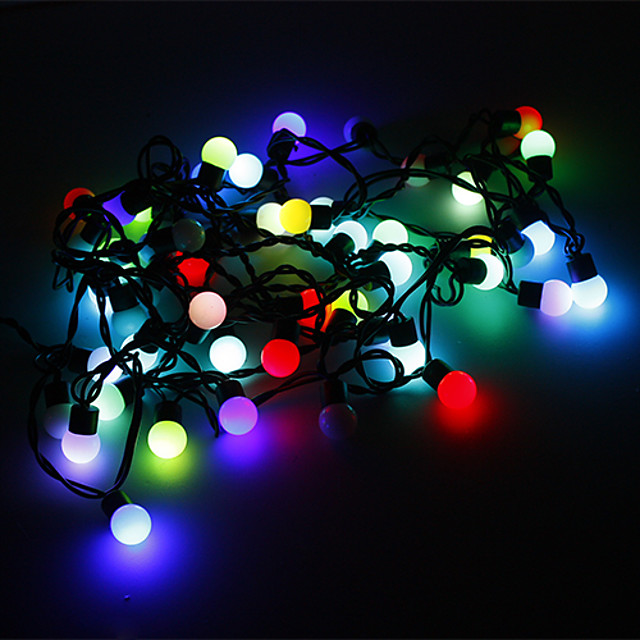 5m String Lights 50 LEDs RGB Color-Changing 220 V
