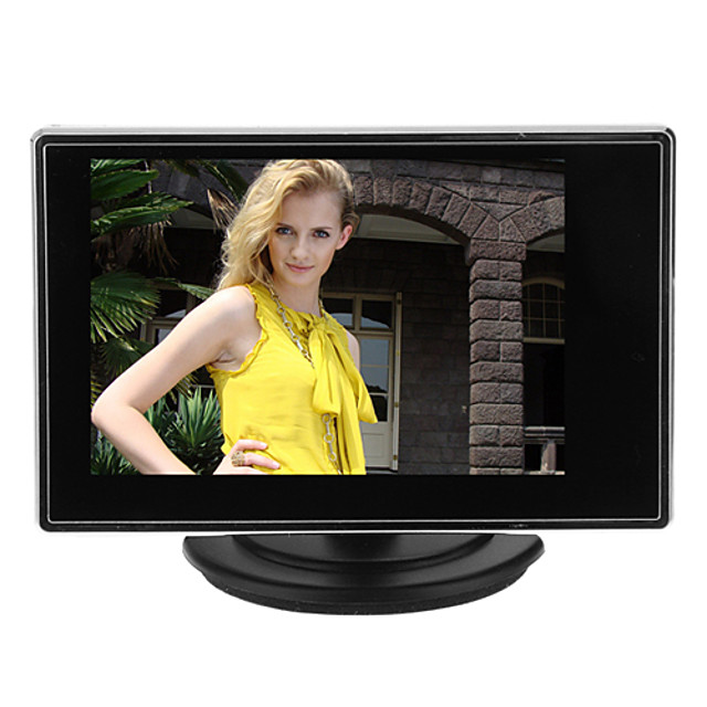 Instrument 3.5 Inch TFT LCD Adjustable Monitor for CCTV Camera with AV RCA Video Sound Input pentru Securitate sisteme 15*14cm 0.121kg