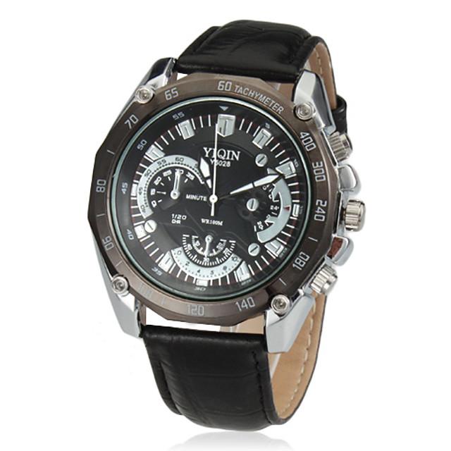 Bărbați Ceas Elegant Aviation Watch Quartz Piele PU Matlasată Negru / Maro Analog Clasic - Negru Maro