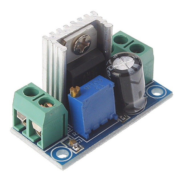 lm317 dc 40v à 1.2 ~ 7 v tension abaisser la carte de circuit réglable régulateur de tension d'alimentation