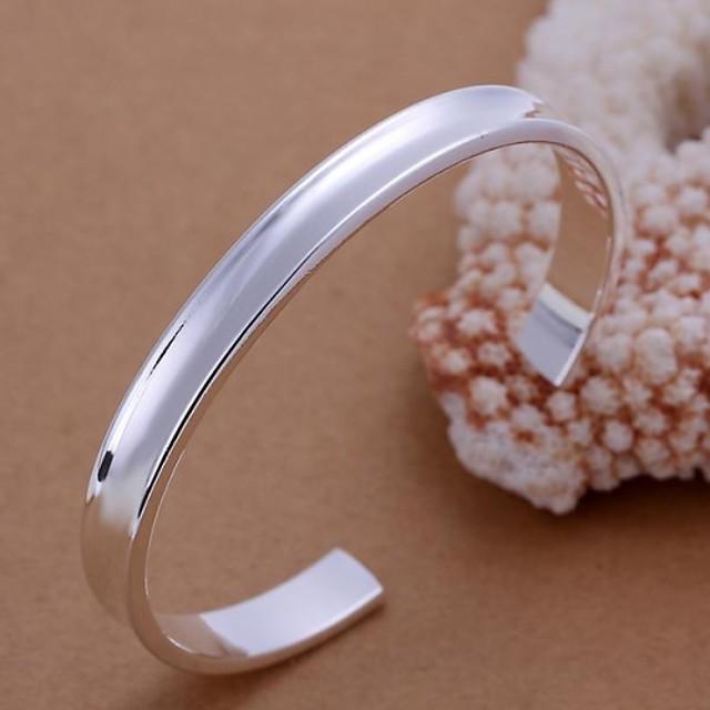 Pentru femei Brățări Bangle Brățări Bantă femei Argilă Bijuterii brățară Argintiu Pentru Petrecere Zilnic Casual
