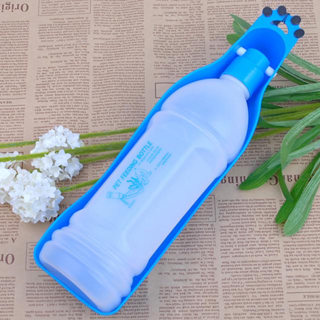 Câine Boluri & Sticle de Apă Plastic Portabil Mată Rosu Albastru Castroane & Hrănirea