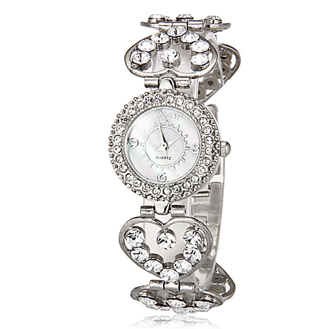 Pentru femei Ceasuri de lux Ceas Brățară Diamond Watch Japoneză Quartz Argint imitație de diamant femei Heart Shape Casual