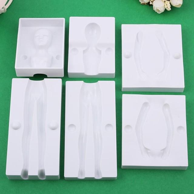 DIY 3D Fondant Cake Modelling 6PCS/Set Female  Body Shape Die Mold