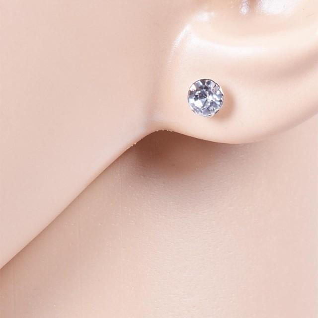 Pentru femei Cristal Cercei Stud Solitaire femei Zirconiu Cubic Ștras Diamante Artificiale cercei Bijuterii Pentru Nuntă Petrecere Zilnic Casual Sport