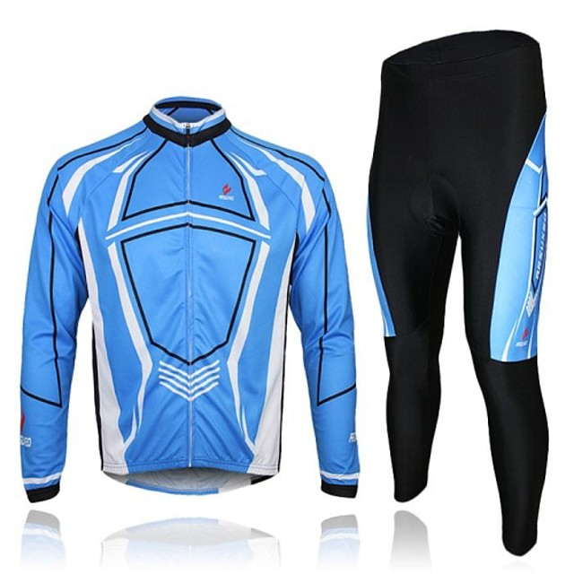 Arsuxeo Ultra-Thin Polyester&Polyamide Cycling Long Sleeves Suits(Tops + Pants)