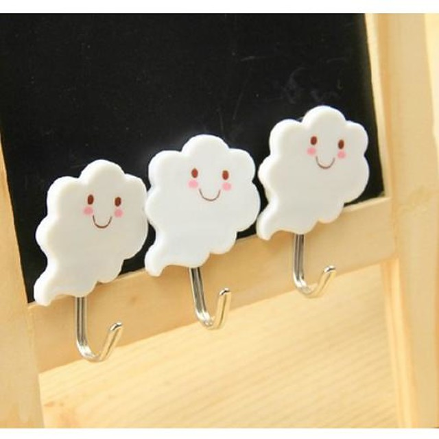 Cloud Face Portable Sticky Hook (3 PCS)