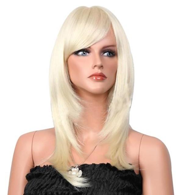 Peruci Sintetice Drept / Clasic Stil Fără calotă Perucă Păr Sintetic 19 inch Pentru femei Perucă