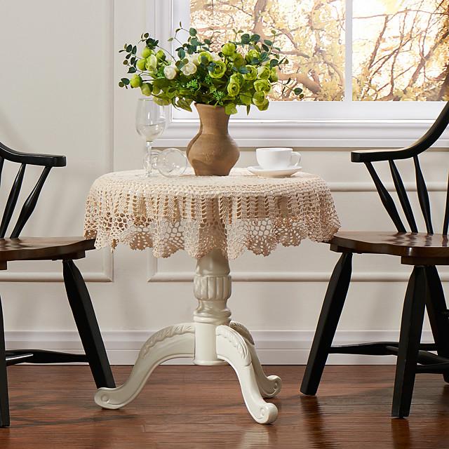 100% bumbac Rotund Fețe de masă Mată Floral Decoratiuni de tabla