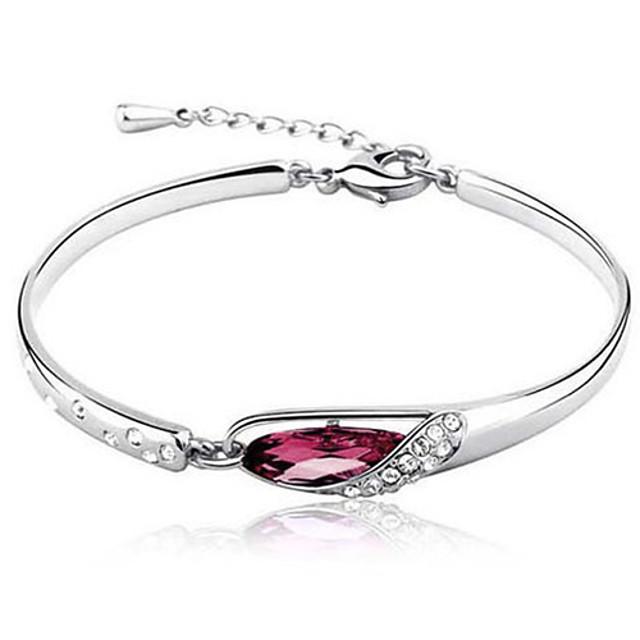 Armringar Patiens Läcker damer Lyx Unik design Ledigt Diamant Armband Smycken Purpur / Röd / Blå Till Party Gåva Valentine / Diamantimitation