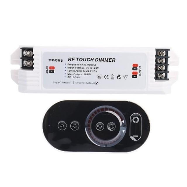LED-uri RF Touch Dimmer Controler pentru iluminat cu LED (DC12V 144W sau 240W DC24V 433,92 MHz)