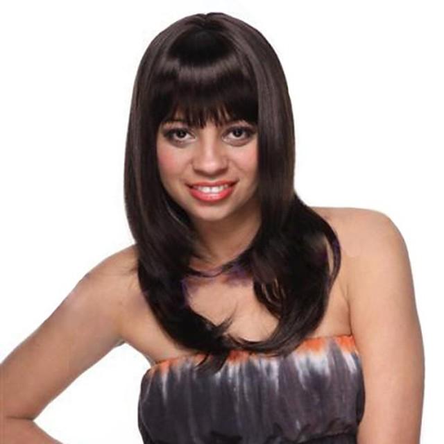 Peruci Sintetice Ondulat Stil Fără calotă Perucă Negru natural Păr Sintetic 180 inch Pentru femei Perucă negru Peruca