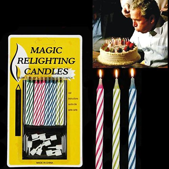 10PCS mixt-color Magic reaprinderea Lumanari Gadgets practice Joke