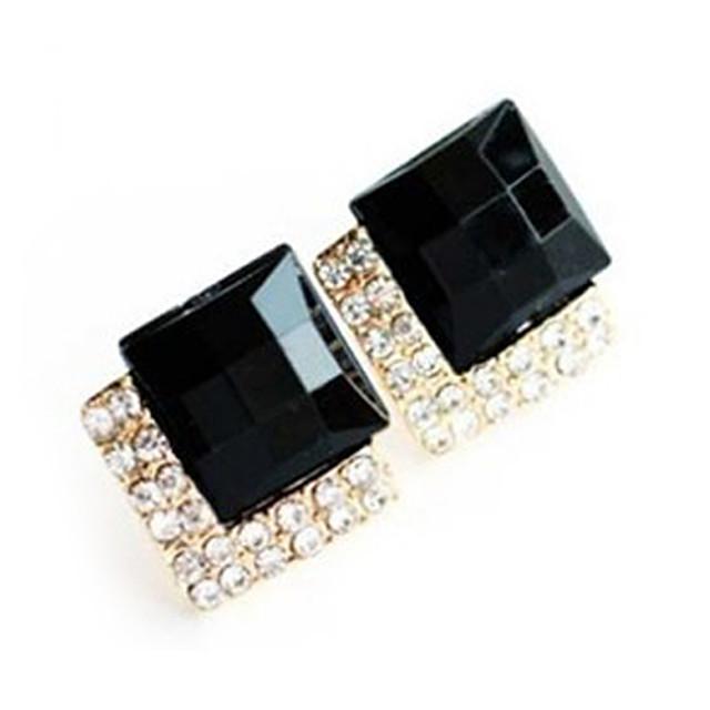 Sapphire sintetic Piatră Preţioasă Negru natural Cercei Stud Lux European Modă Diamante Artificiale cercei Bijuterii Pentru Petrecere Zilnic Casual