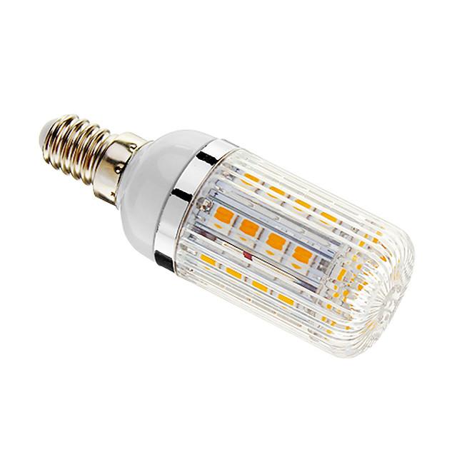 Becuri LED Corn 480 lm E14 T 36 LED-uri de margele SMD 5050 Intensitate Luminoasă Reglabilă Alb Cald 220-240 V