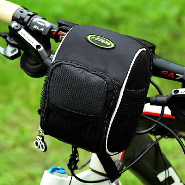 FJQXZ حقيبة المقود للدراجة مقاوم للماء سريع جاف يمكن ارتداؤها حقيبة الدراجة نايلون 600D بوليستر حقيبة الدراجة حقيبة الدراجة أخضر / الدراجة