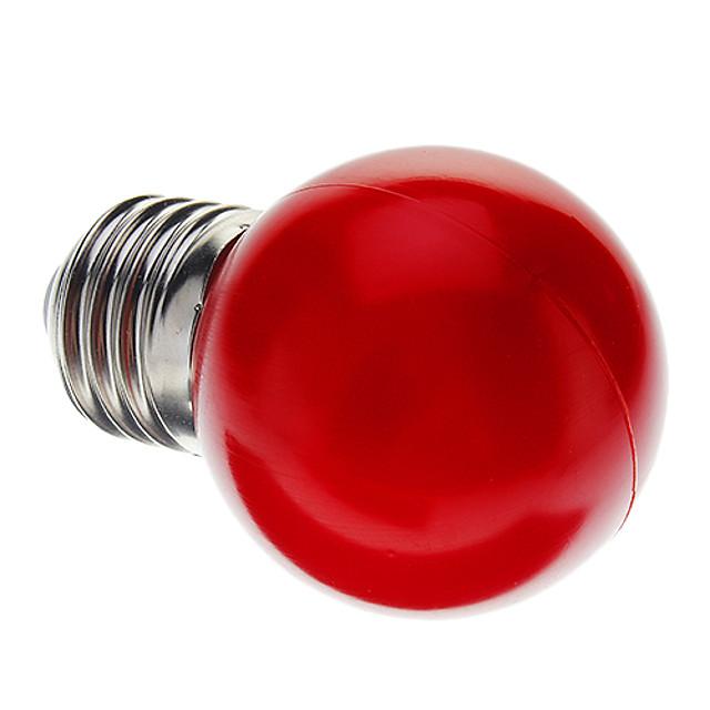 1 buc 0.5 W Bulb LED Glob E26 / E27 G45 7 LED-uri de margele Dip LED Decorativ Roșu 100-240 V / RoHs