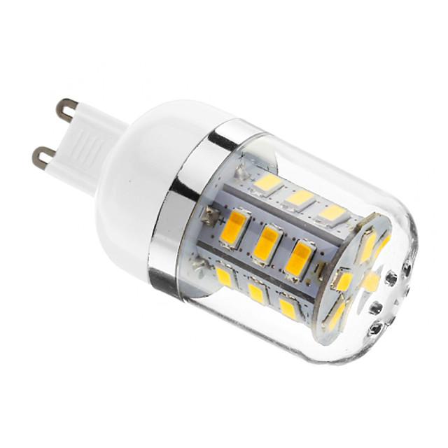 1 buc 4 W Becuri LED Corn 0-300Lm E14 G9 E26 / E27 T 24 LED-uri de margele SMD 5730 Intensitate Luminoasă Reglabilă Alb Cald 220-240 V 110-130 V