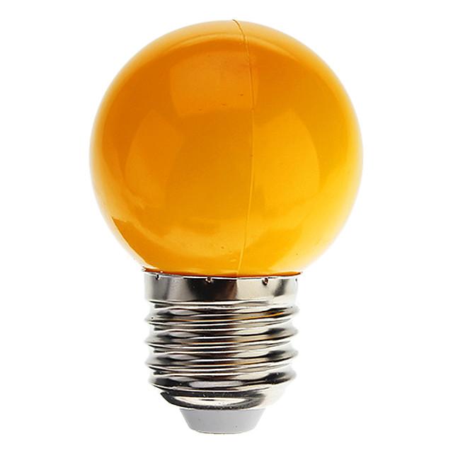 1pc 0.5 W Lampadine globo LED 30 lm E26 / E27 G45 7 Perline LED Capsula LED Decorativo Luce fredda Rosso Blu 100-240 V / RoHs