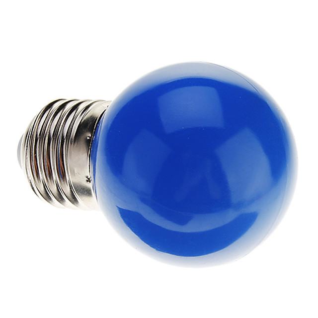 0.5 W Ampoules Globe LED 30 lm E26 / E27 G45 7 Perles LED LED Dip Décorative Bleu 220-240 V / RoHs