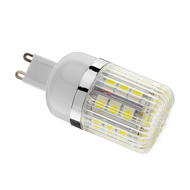 Bombillas LED de Mazorca 400 lm G9 T 30 Cuentas LED SMD 5050 Regulable Blanco Fresco 220-240 V